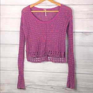Free People - Crop Knit Sweater Top - XS